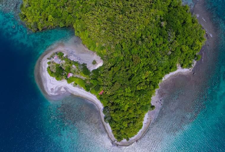 Aerial View Klah Island, Sabang
