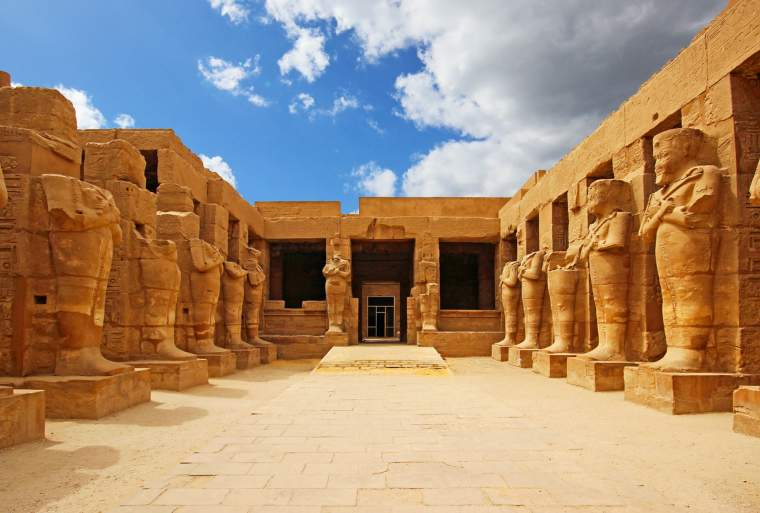 Ancient ruins of Karnak temple in Luxor, Egypt.