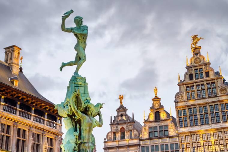 Brabo fountain in Antwerp