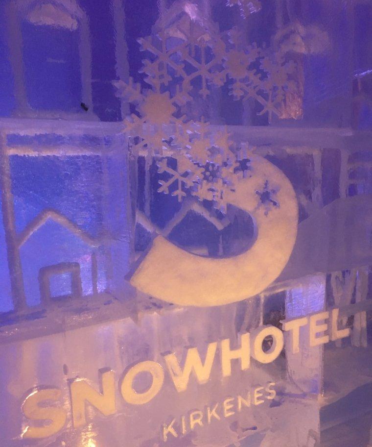 Inside the Snowhotel Kirkenes