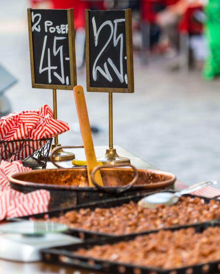 Traditional street food in Copenhagen